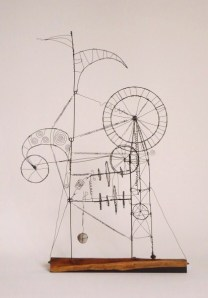 1. The Prayer Maker Machinery - A PRAYER MACHINE -  2011 - James Paterson - 53 x 78 x 25 cm  steel wire , African black wood